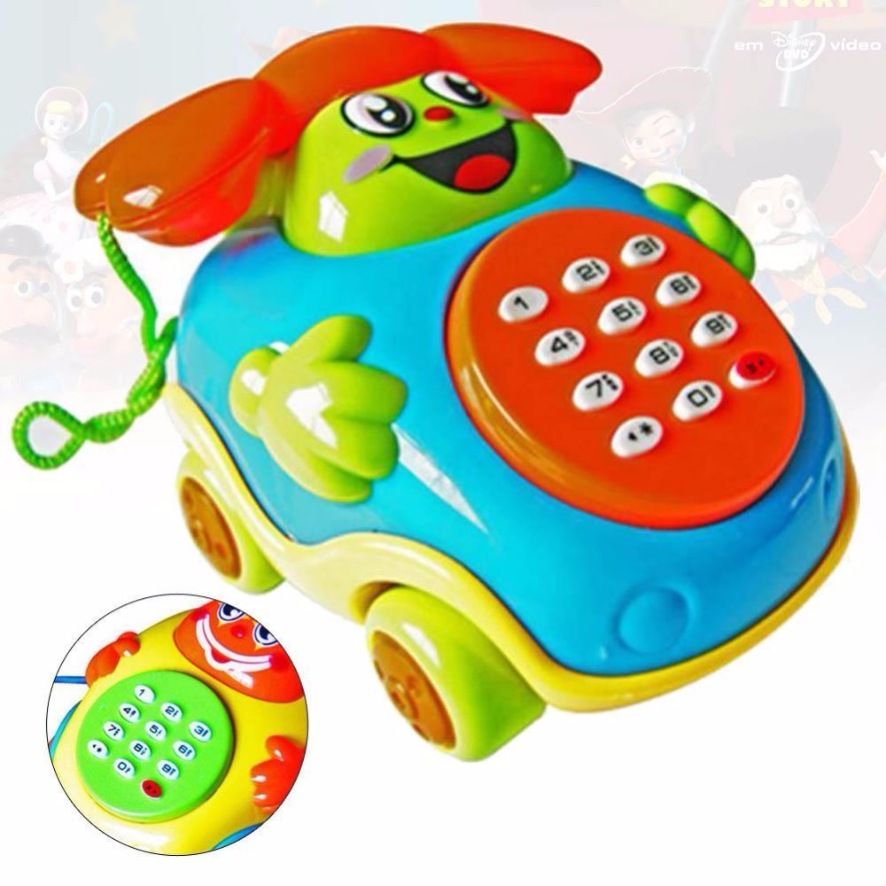 Musical Educational Cartoon Phone Acg Developmental Music Toy For